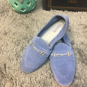 Beautiful blue topshop loafers